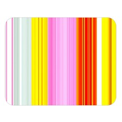 Multi Colored Bright Stripes Striped Background Wallpaper Double Sided Flano Blanket (Large)