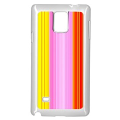 Multi Colored Bright Stripes Striped Background Wallpaper Samsung Galaxy Note 4 Case (white)