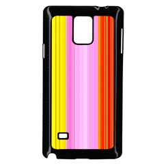 Multi Colored Bright Stripes Striped Background Wallpaper Samsung Galaxy Note 4 Case (black)