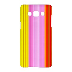 Multi Colored Bright Stripes Striped Background Wallpaper Samsung Galaxy A5 Hardshell Case