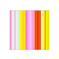 Multi Colored Bright Stripes Striped Background Wallpaper Satin Bandana Scarf