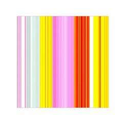 Multi Colored Bright Stripes Striped Background Wallpaper Small Satin Scarf (square)