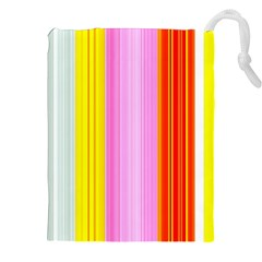 Multi Colored Bright Stripes Striped Background Wallpaper Drawstring Pouches (xxl)