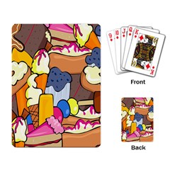 Sweet Stuff Digitally Created Sweet Food Wallpaper Playing Card