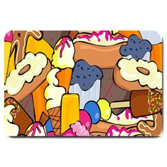 Sweet Stuff Digitally Created Sweet Food Wallpaper Large Doormat