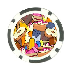Sweet Stuff Digitally Created Sweet Food Wallpaper Poker Chip Card Guard