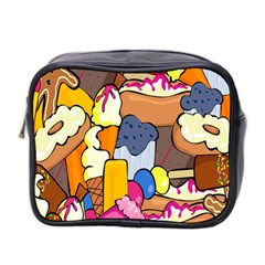Sweet Stuff Digitally Created Sweet Food Wallpaper Mini Toiletries Bag 2-Side