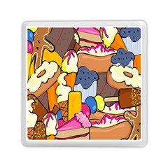 Sweet Stuff Digitally Created Sweet Food Wallpaper Memory Card Reader (square)