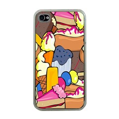 Sweet Stuff Digitally Created Sweet Food Wallpaper Apple Iphone 4 Case (clear)