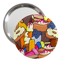 Sweet Stuff Digitally Created Sweet Food Wallpaper 3  Handbag Mirrors