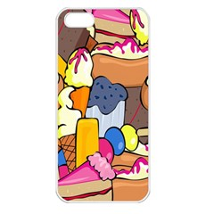 Sweet Stuff Digitally Created Sweet Food Wallpaper Apple Iphone 5 Seamless Case (white)