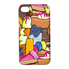 Sweet Stuff Digitally Created Sweet Food Wallpaper Apple Iphone 4/4s Hardshell Case With Stand