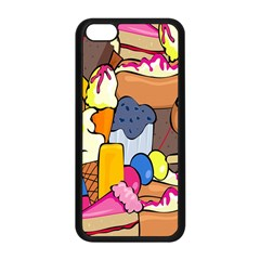 Sweet Stuff Digitally Created Sweet Food Wallpaper Apple iPhone 5C Seamless Case (Black)