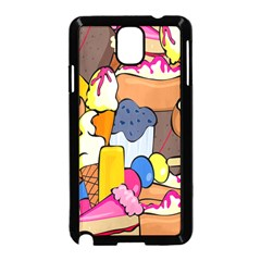 Sweet Stuff Digitally Created Sweet Food Wallpaper Samsung Galaxy Note 3 Neo Hardshell Case (Black)