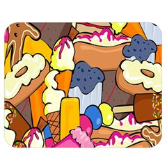 Sweet Stuff Digitally Created Sweet Food Wallpaper Double Sided Flano Blanket (medium)