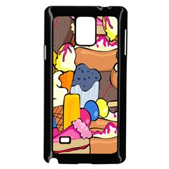 Sweet Stuff Digitally Created Sweet Food Wallpaper Samsung Galaxy Note 4 Case (black)
