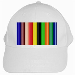 Colorful Striped Background Wallpaper Pattern White Cap