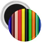 Colorful Striped Background Wallpaper Pattern 3  Magnets Front
