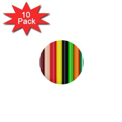 Colorful Striped Background Wallpaper Pattern 1  Mini Buttons (10 Pack)