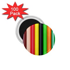 Colorful Striped Background Wallpaper Pattern 1.75  Magnets (100 pack)