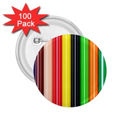 Colorful Striped Background Wallpaper Pattern 2 25  Buttons (100 Pack)