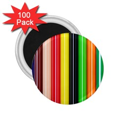 Colorful Striped Background Wallpaper Pattern 2 25  Magnets (100 Pack)