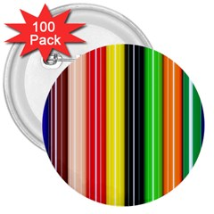 Colorful Striped Background Wallpaper Pattern 3  Buttons (100 Pack)