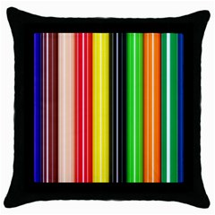 Colorful Striped Background Wallpaper Pattern Throw Pillow Case (black)