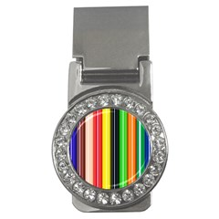 Colorful Striped Background Wallpaper Pattern Money Clips (CZ)