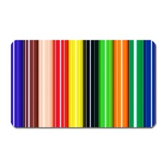 Colorful Striped Background Wallpaper Pattern Magnet (Rectangular)