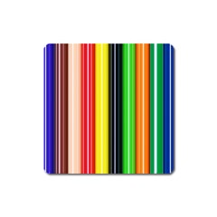 Colorful Striped Background Wallpaper Pattern Square Magnet
