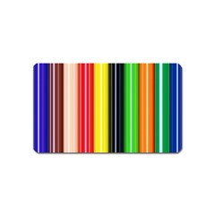 Colorful Striped Background Wallpaper Pattern Magnet (name Card)