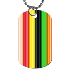 Colorful Striped Background Wallpaper Pattern Dog Tag (one Side)