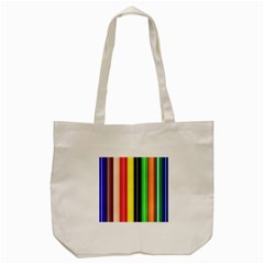 Colorful Striped Background Wallpaper Pattern Tote Bag (Cream)