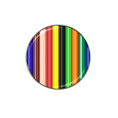 Colorful Striped Background Wallpaper Pattern Hat Clip Ball Marker (10 pack)