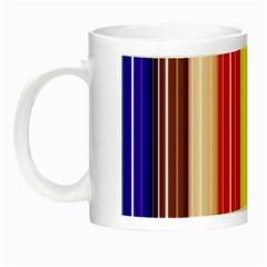 Colorful Striped Background Wallpaper Pattern Night Luminous Mugs