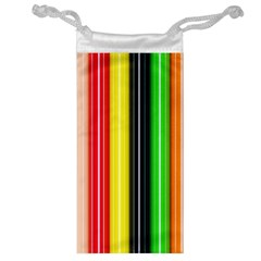 Colorful Striped Background Wallpaper Pattern Jewelry Bag