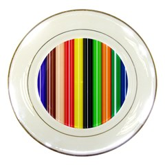 Colorful Striped Background Wallpaper Pattern Porcelain Plates