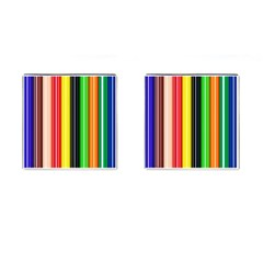 Colorful Striped Background Wallpaper Pattern Cufflinks (square)