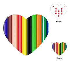 Colorful Striped Background Wallpaper Pattern Playing Cards (heart)
