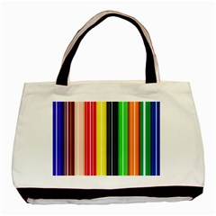 Colorful Striped Background Wallpaper Pattern Basic Tote Bag