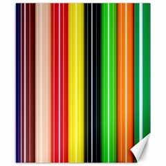 Colorful Striped Background Wallpaper Pattern Canvas 8  X 10