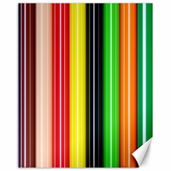 Colorful Striped Background Wallpaper Pattern Canvas 16  X 20