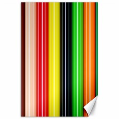 Colorful Striped Background Wallpaper Pattern Canvas 24  X 36