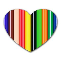 Colorful Striped Background Wallpaper Pattern Heart Mousepads