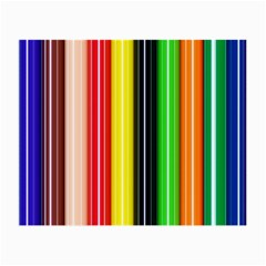 Colorful Striped Background Wallpaper Pattern Small Glasses Cloth (2-Side)