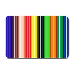Colorful Striped Background Wallpaper Pattern Small Doormat