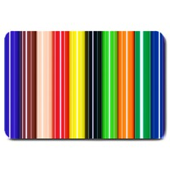 Colorful Striped Background Wallpaper Pattern Large Doormat