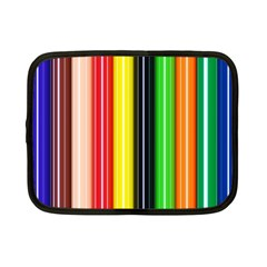 Colorful Striped Background Wallpaper Pattern Netbook Case (Small)