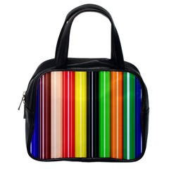 Colorful Striped Background Wallpaper Pattern Classic Handbags (one Side)